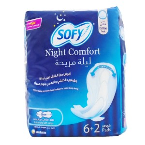 Sofy Night Comfort Women Sanitary  8 Pads