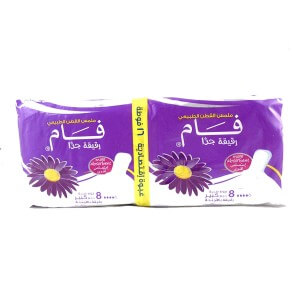 Fam Sanitary Napkins , 16 Pieces