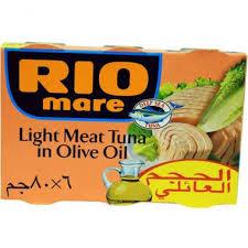 RIOMARE LIGHT TUNA OIL 4X80G