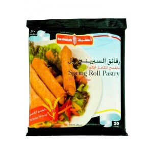 Sunbulah Spring Roll Pastry Whole Wheat 20pc 345G