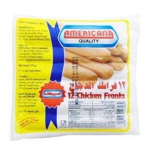 Americana Chicken Franks 12 pic . 375 G