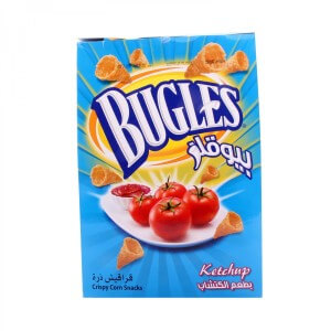 Bugles Crispy Corn Snacks Ketchup 15X18g