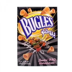 Bugles Crispy Corn Snacks Smokin BBQ 15X18g