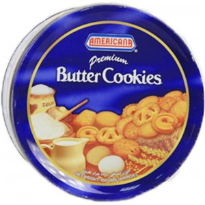Americana Butter Cookies Blue Tin Pack 400G