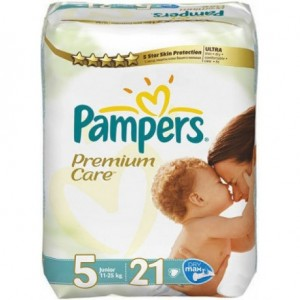 Pampers Premium Care Baby Diapers No 5 Junior 11-25 kg 21s