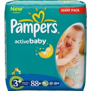 Pampers Diapers Midi 3, 4-9kg 92pcs