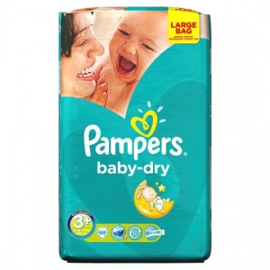 Pampers Baby Diapers No 3 MIDI 4-9 KG 68pc