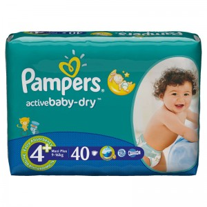 Pampers Baby Diapers Maxi Plus 4+, 9-16kg 40pcs