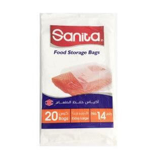 Sanita food  storage bags N. 4 extra large  20 bags