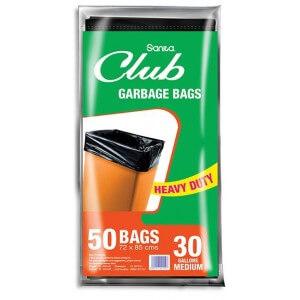 Sanita Club Garbage Bag 30 Gallons x 50 Bags
