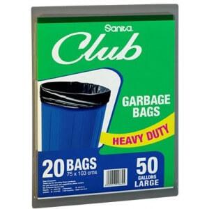 Sanita Club Garbage Bag 50 Gallons x 20Bags