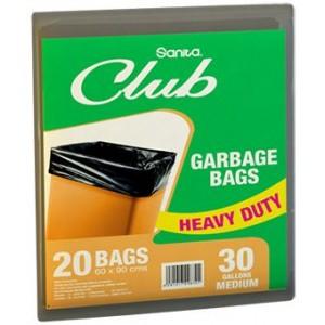 Sanita Club Garbage Bags 30 gallons x 20 Bags