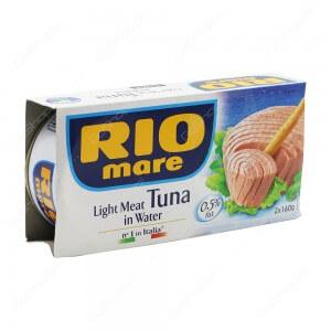 Riomare light meat tuna in water 2X160 g