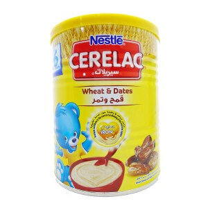 Nestle Cerelac Infant Cereal Wheat & Dates 400G Tin