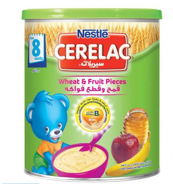 Nestle Cerelac Infant Cereal Wheat & Fruit Pieces 400G Tin