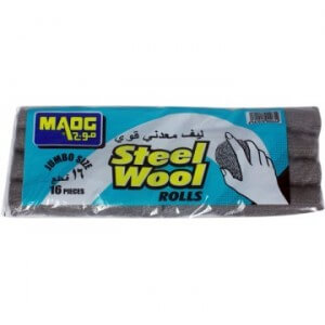 Maog Steel Wool Rolls Jumbo 16 pieces