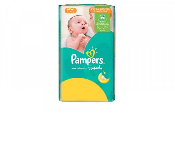 Pampers New Baby-Dry Diapers, Size 1, Newborn, 2-5kg, Value Pack, 26Count