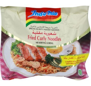 INDOMIE FRIED CURLY NDLS 90G