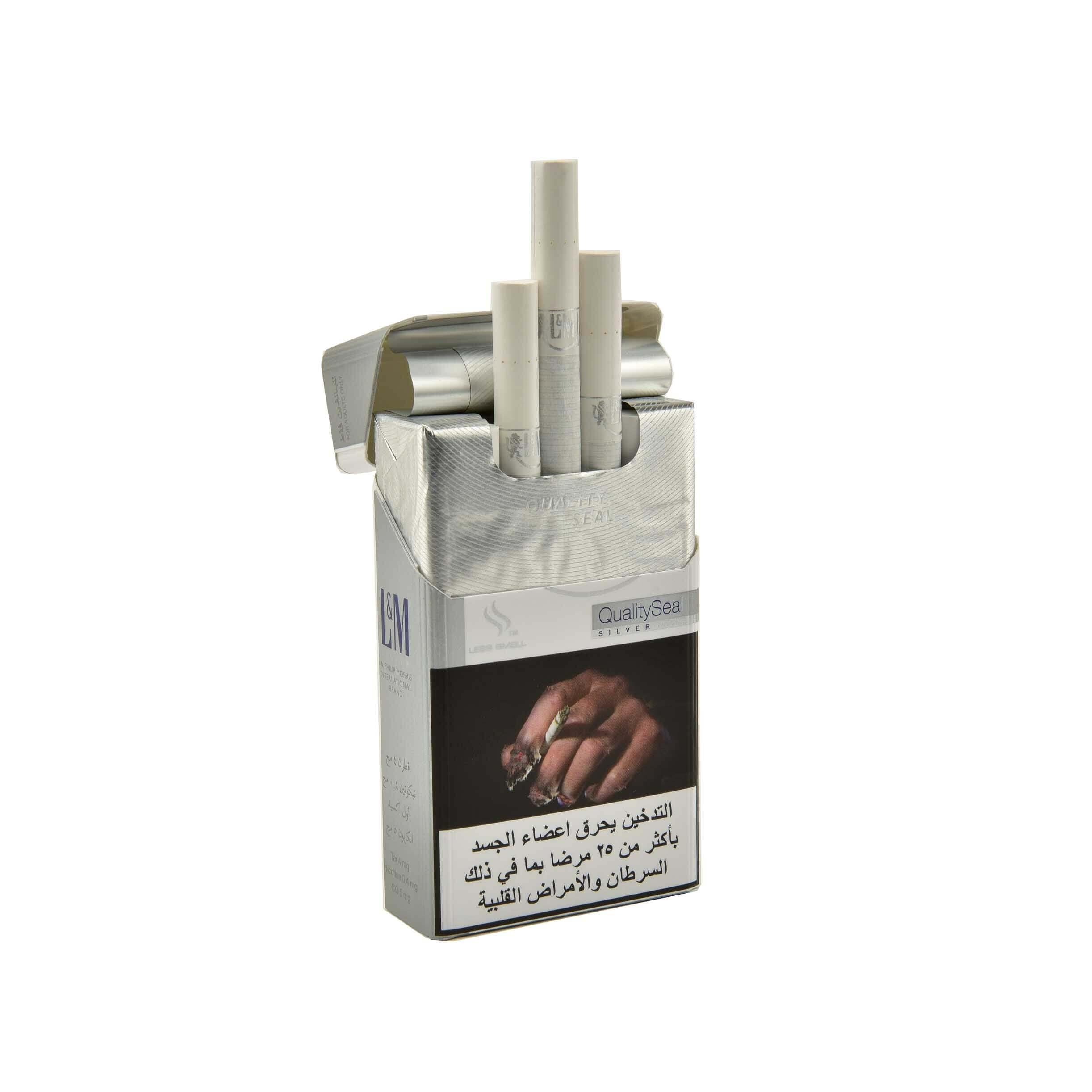 L&M Silver Cigarettes