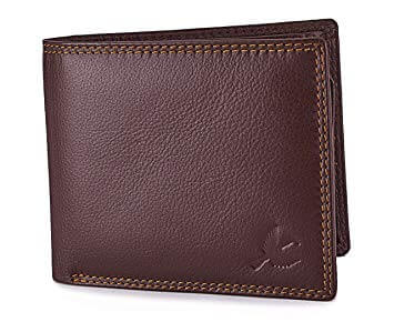 Men Brown Genuine Leather Wallet