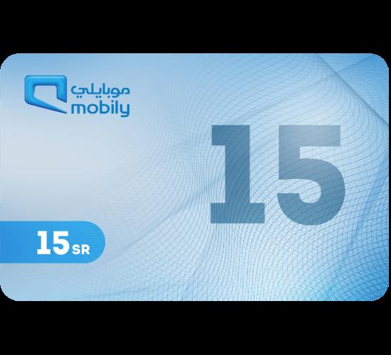 Mobily Recharge Card 15 SAR