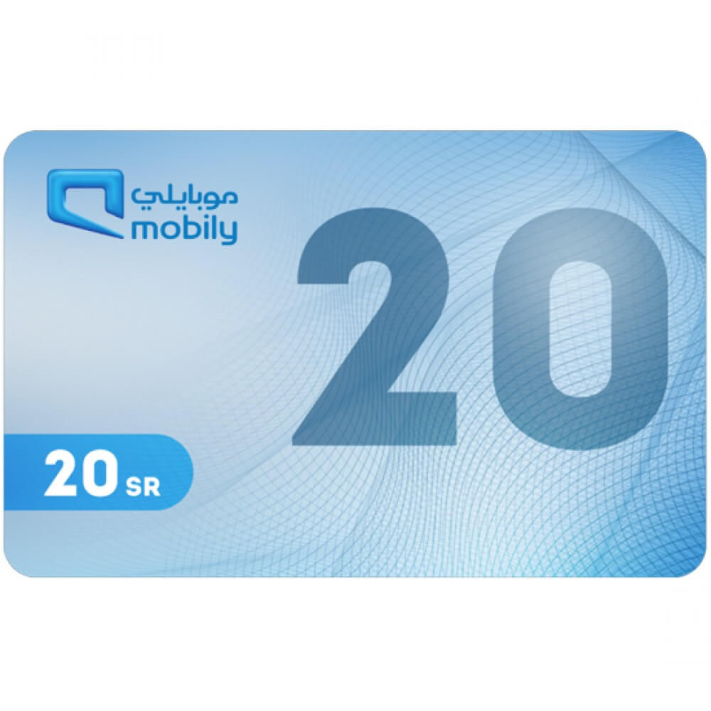 Mobily Recharge Card 20 SAR