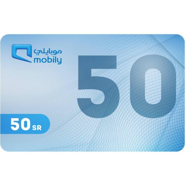 Mobily Recharge Card 50 SAR