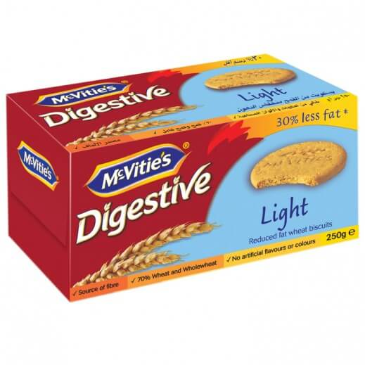 MC VITIES LIGHT DIGESTIVE BISCUITS 250 G