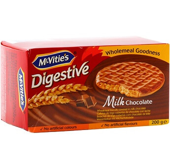 MC VITIE'S DIGESTIVE MILK CHOCOLATE 200 G