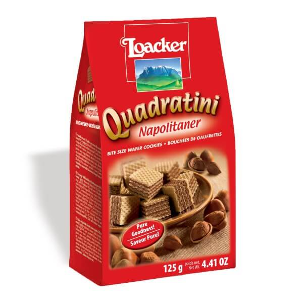 Loacker Quadratini Wafer Hazelnut 150g