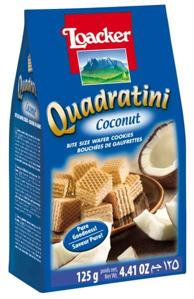 Loacker - Quadratini Coconut 125g