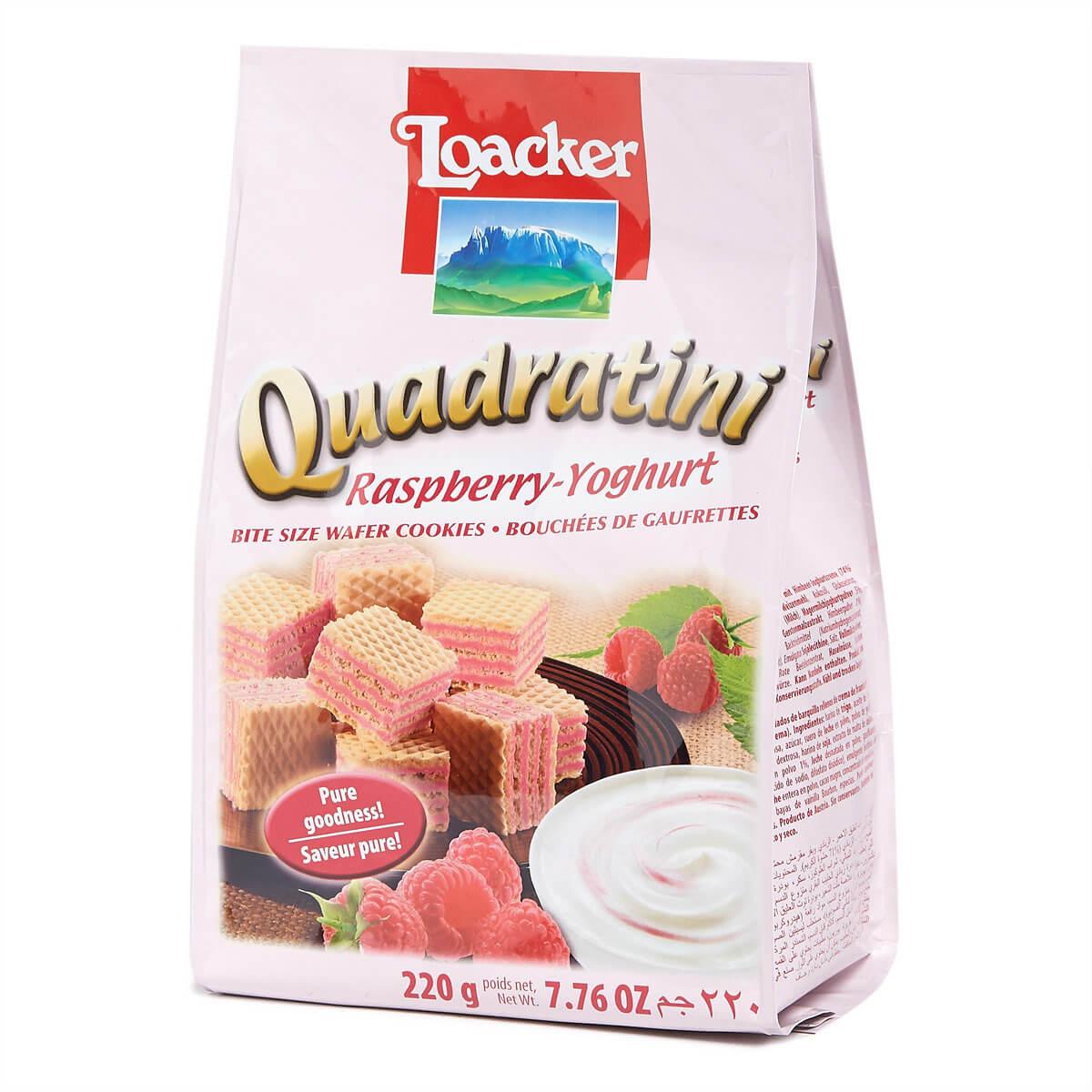 Loacker - Quadratini Raspberry-Yoghurt 220 g