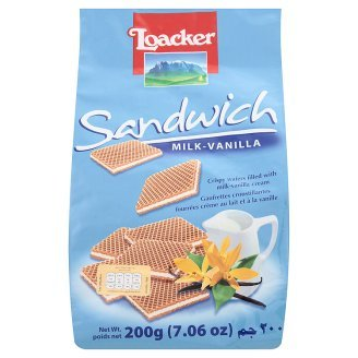 Loacker Sandwich Milk-Vanilla Filled With Milk-Vanilla Cream Crispy Wafers 200g