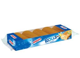 AMERICANA ROLL CAKE VANILLA CREAM MINIS 6 PIECES