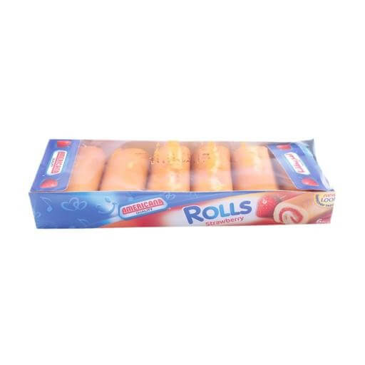 AMERICANA ROLL CAKE STRAWBERRY MINIS 6 PIECES