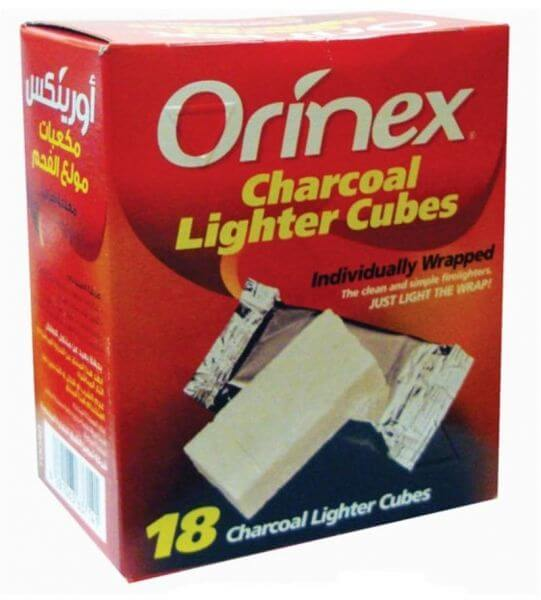 Orinex Charcoal Lighting Cubes, 18 pieces