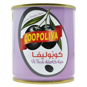 COOPOLIVA BLACK OLIVES CAN 200G