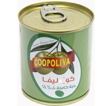 COOPOLIVA G.OLIVES CAN 100G