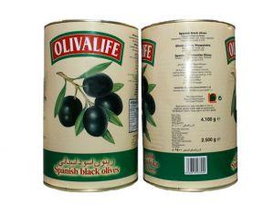 Olivalife Plain black olives