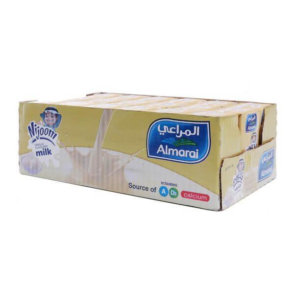 Almarai Milk Nijoom Vanilla Flavor 18*150 ml