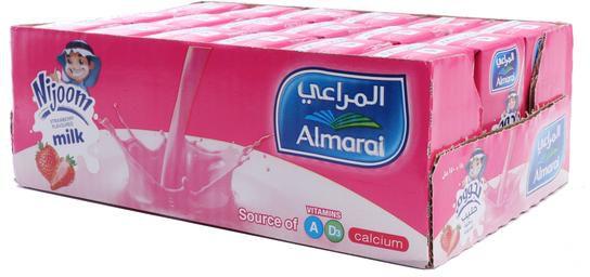 Almarai Milk Nijoom Strawberry Flavor 18*150 ml