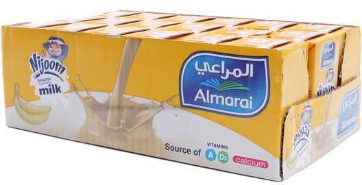 Almarai Milk Nijoom Banana Flavor 18*150 ml
