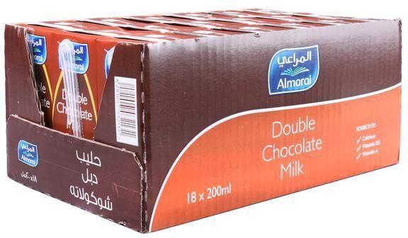 Almarai Double Chocolate Milk 18*200 ml