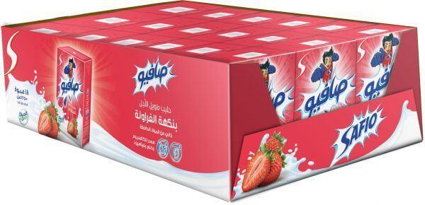 Safio Strawberry Milk 18X200ml