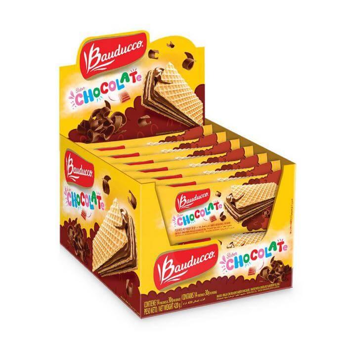 DIPLAY MINI WAFER CHOCOLATE 14 PIC
