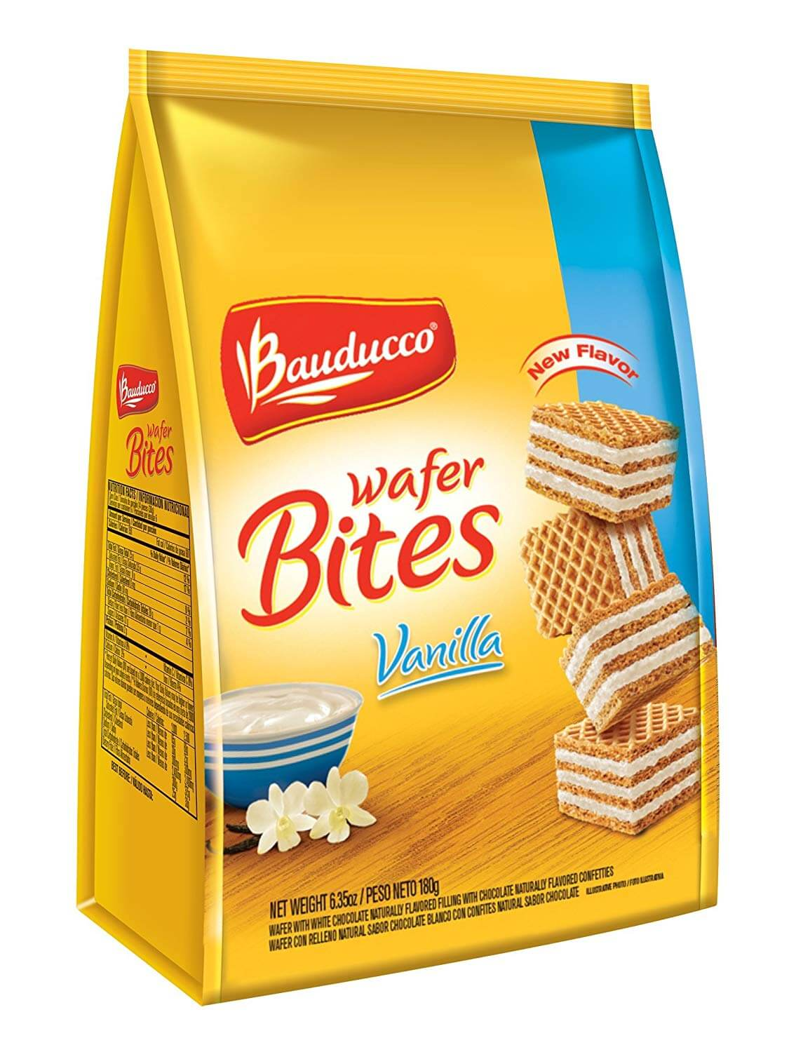 bauducco wafer bites with vainilla  180g