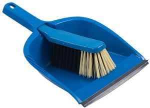 Crescent Twin Broom With Dustpan