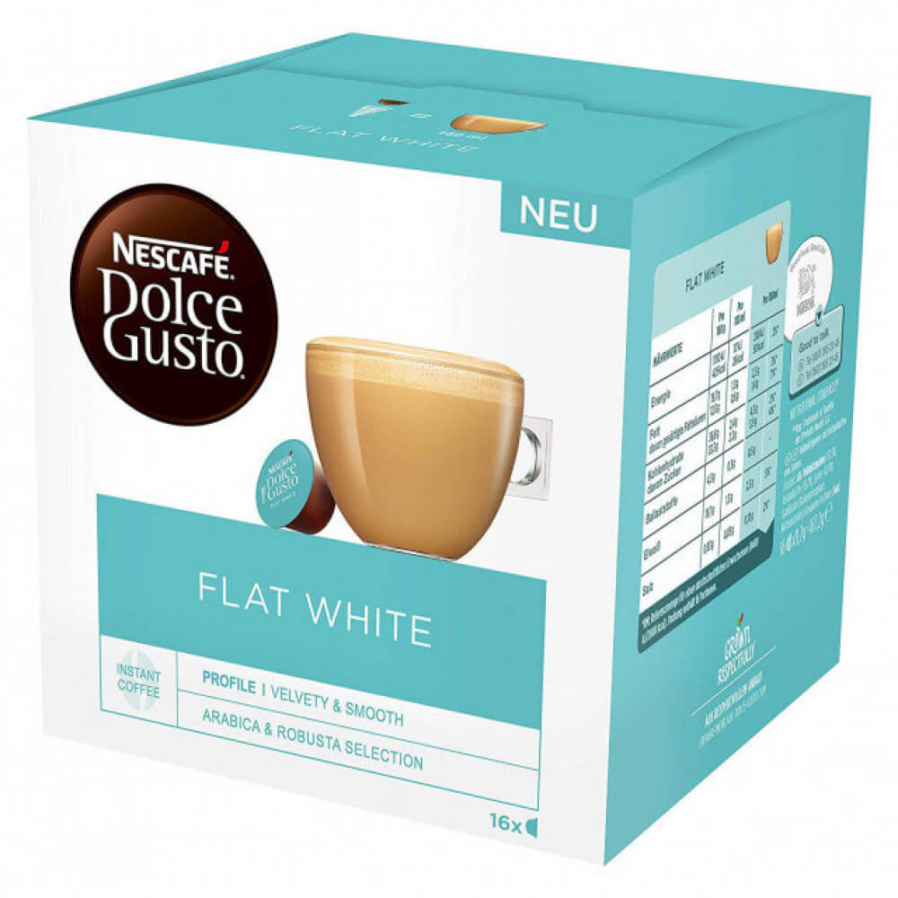 Dolce Gusto Flat White Coffee Pack of 16