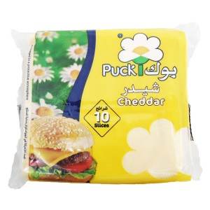 Puck Cheddar Slices Cheese 10 Pcs